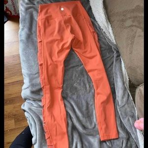 coral Lululemon leggings